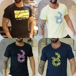 Camisetas masculinas 100% algodão