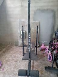 Academix + Barra Supino + 4 anilhas com 30 kG