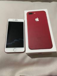 Iphone 7 Plus Red 256 Gb com nota fiscal