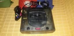 Sega Saturno Skeleton - 01 controle original - Bom estado