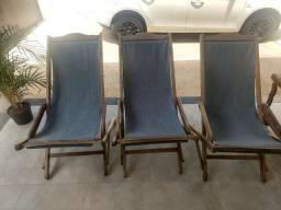 3 cadeiras espreguiçadeira