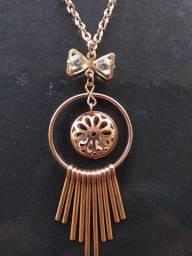 Corrente, Cordão, Colar feminino de cobre.