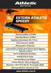 esteira modelo athletic espeedy com varias funções de treino