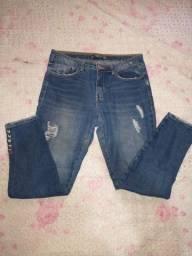 Calça jeans Tam: 38 cigarrete cintura média