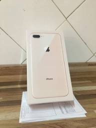 iPhone 8Plus Gold 256GB Lacrado Aceito Trocas (IPhones)