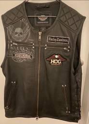 Colete de couro original Harley Davidson