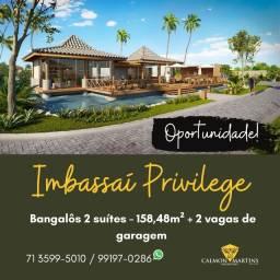 Bangalôs 2 suítes, 158m² - Imbassaí Privillege