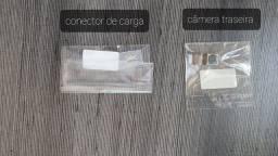 Conector carga e câmera traseira