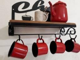 Prateleira porta xícaras chá