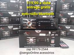 Auto rádio bluetooth usb aux cartão entrega grátis