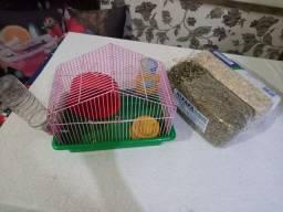 Gaiola de hamster + acessórios