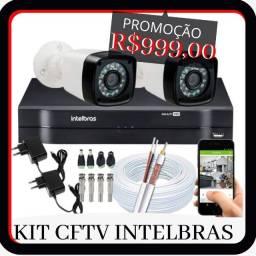 kit 999.99 oferta instalado camera de segurança oferta