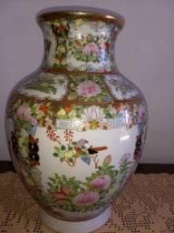 vaso de porcelana chinesa antigo final do século XIX