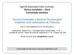 Técnico e Auxiliar Técnico - Telecom