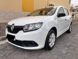 Renault Sandero Authentique 1.0 2015/2016 Flex Completo ( Veiculo zero de Tudo )
