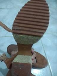 Sandália feminina Via Mar tamanho 37