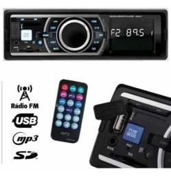 Som Para Carro Controle Radio Fm P2 Mp3 Usb Sd  (Tg-4.3.001)