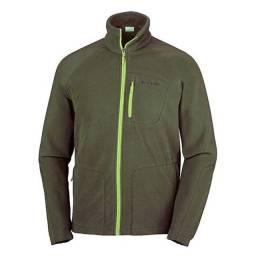 Jaqueta fast trek com bolsos. - verde militar/ verde claro - Columbia - M
