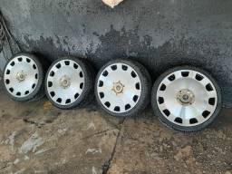 Rodas Aro 18 zerada com pneus novos