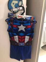 Fantasia de Capitão América infantil P