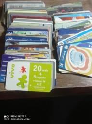 Cartão telefônico lote