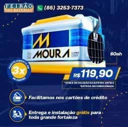 Título do anúncio: Bateria 60Ah Bateria Frete e Instalação Grátis Bateria Moura 60Ah Bateria Bateria