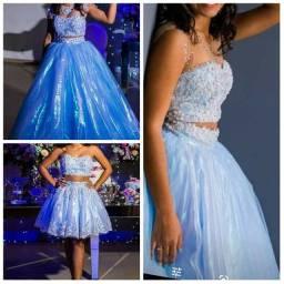 Vendo Vestido de 15 anos Azul Serenity