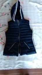 Jaqueta azul CAPUZ nova e jaqueta Preta semi nova M G .