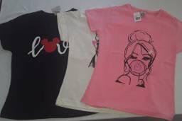 Camisas Femininas Babylooks Estampadas