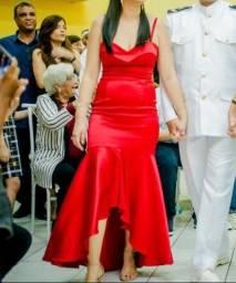 Vestido madrinha vermelho