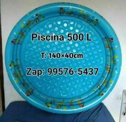Piscina infantil azul 550 litros