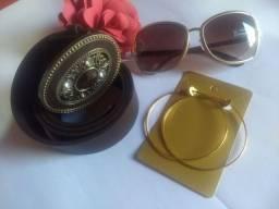 kit Feminino Óculos+brinco+cinto Promoção para o Dia das Mães