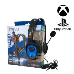 Fone Headset c/ microfone Gamer Celular/PS4/Xbox One
