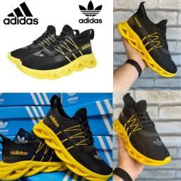 Esportivo lançamento original adidas yezzy maverick masculino preto/amarelo