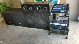 Aparelhagem de som, caixa de som , amplificador