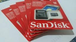 Cartão de memória 16gb original Sandisk com as músicas que você quiser