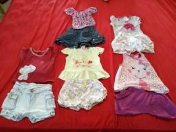 Tres lotes de roupas menina