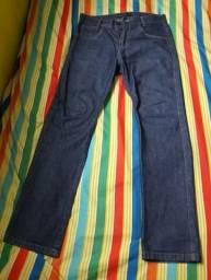 Calças compridas jeans azul