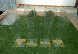 Suporte de vidro para arranjo de flores