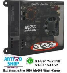 Modulo Amplificador Soundigital Sd250.2d 250rms 2 Ohms Top