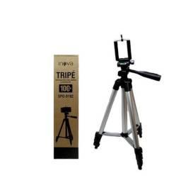 Tripe Universal Aluminio c/ Adaptador p/ Camera e Celular - 1m