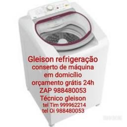 Conserto máquina de lavar roupa em domicílio orçamento grátis 24h tel :oi *