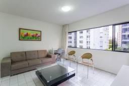 Flat 201, 5º pavimento, vista panorâmica, amplo, 2 salas e 1 quarto, próximo praia