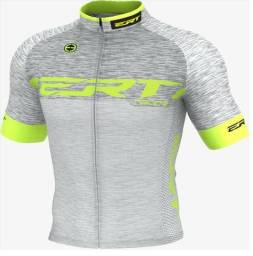 Camisa De Ciclismo Elite Ert Racing Prata Slim Fit Mtb Speed