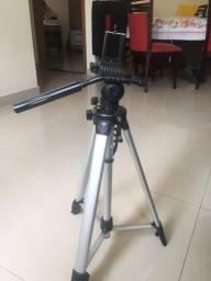 Tripé profissional para câmera e celular