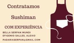 Contrata-se sushiman com experiência