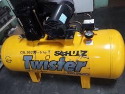 Compressor SCHULZ Twister 20pés, 200litros, trifásico