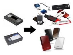Conversão de fita VHS para DVD, Pen drive, HD externo e restauração de fotos