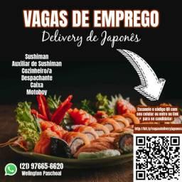 Vagas de Emprego para Delivery Japonês em Volta Redonda