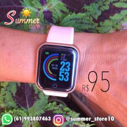 Relogio Smartwatch Smartband D20 Fit Pro Android e IOS,Bluetooth Rose